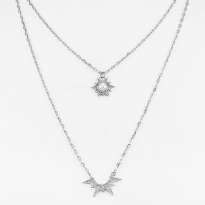 Rebecca Minkoff Double Pendant Star Necklace